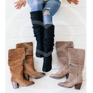 Shoes - BRITTNEY Suede Autumn Boots - taupe